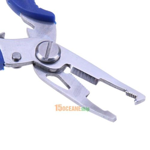 Fishing Pliers Split Ring Scissors Wire Line Cutter Hook Removers Trackle /& Bag