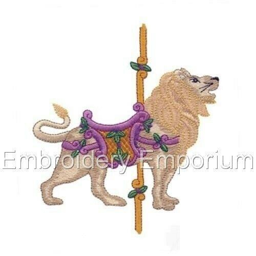 CAROUSEL ANIMALS COLLECTION MACHINE EMBROIDERY DESIGNS ON CD OR USB