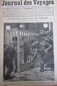 Zeitung-der-Voyages-Nr-762-von-1892-The-Doctor-Garner-Beim-die-Gorillas