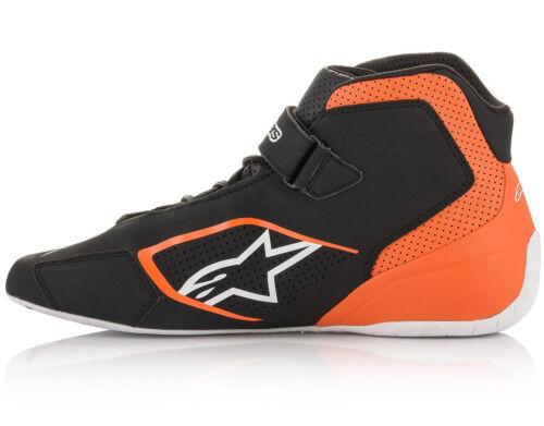 Alpinestars Tech-1 K Schuhe 2020 Stiefel Schwarz//Weiß oder Orange Karting Race