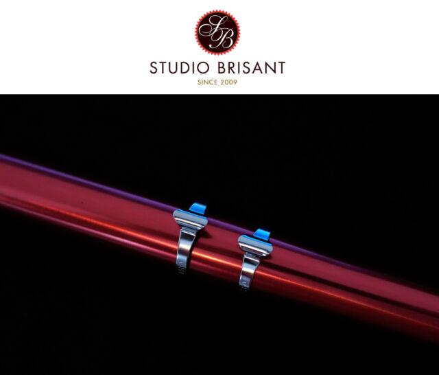 Tektro Bremszug Oberrohr Schellen / Cable Clips silber in 25,4 + 28,6 + 31, 8 mm