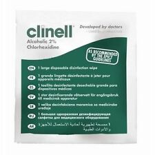 Clinell 2% Alcoholic Large Disposable Disinfection Wipes - PACK OF 50
