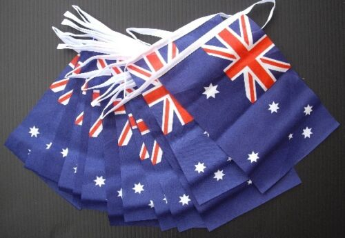 Huge 33ft Long Australia Day Rugby World Cup Australian OZ Fabric Flag Bunting