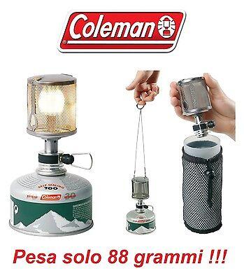 2019 Moda Lanterna A Gas F1 Lite Coleman Ultra Leggera Solo 88 Gr - Campeggio E Alpinismo