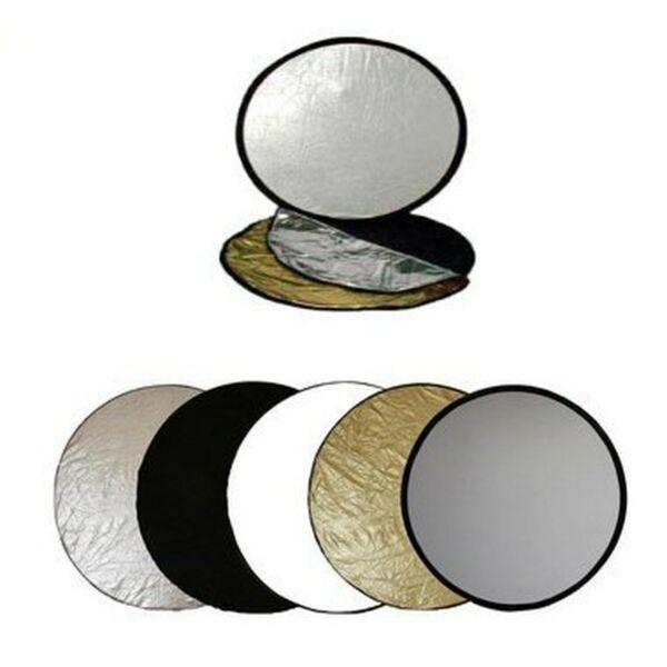 Amical Ex-pro 42 In (environ 106.68 Cm) 110 Cm 1 En 5-photographie Réflecteur De Lumière-argent/or/noir/...-ack/... Performance Fiable