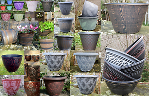 Plastic Plant Flower Pot Planter Garden Patio Decoration Large