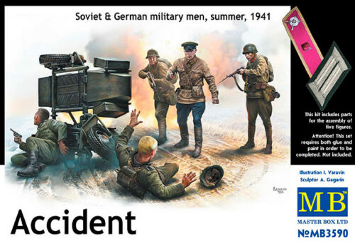 German Military Men Summe WWII Soviet WWII era  1//35 MasterBox 3590 ACCIDENT