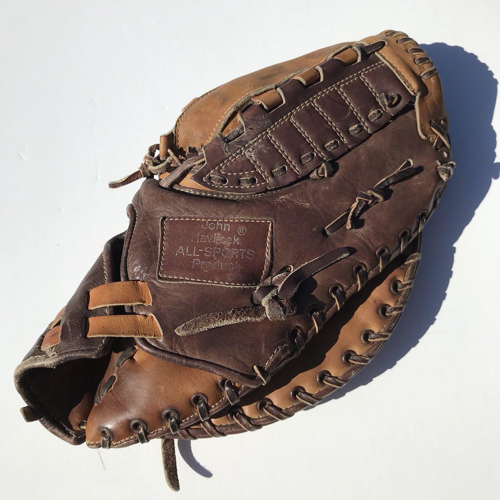 John Havlicek JH500 todos los deportes lanzador de mano derecha de Productos de cuero guante de béisbol Vintage 12 en.