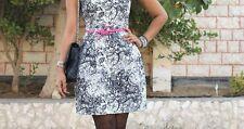 NEW NWT ZARA BLACK WHITE FLORAL TULIP MINI DRESS XS EXTRA SMALL 8 US 4 UK 36