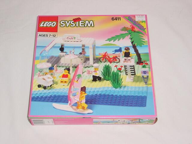 NEW Lego Town Paradisa 6411 SAND DOLLAR CAFE Sealed HTF 1992'
