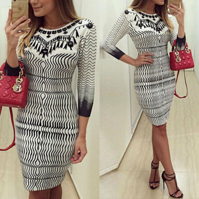 Hot Fashion Women Bandage Bodycon Long Sleeve Party Cocktail Mini Dress