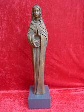 schöne,alte Bronzefigur__betende Madonna __Grabfigur__74cm__14,2kg  !