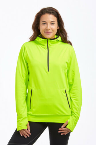 Time to Run Women/'s Thermal Zip Neck Kanga Running Hoodie-Free UK P/&P