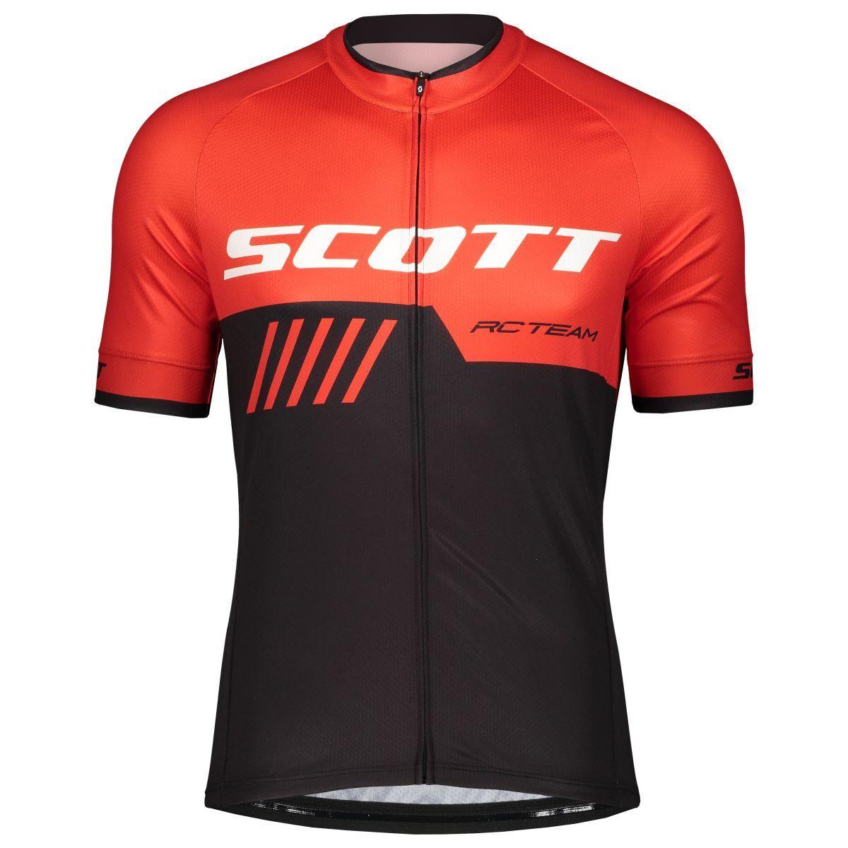 Scott RC Team 10 Fahrrad Trikot kurz black red 2019