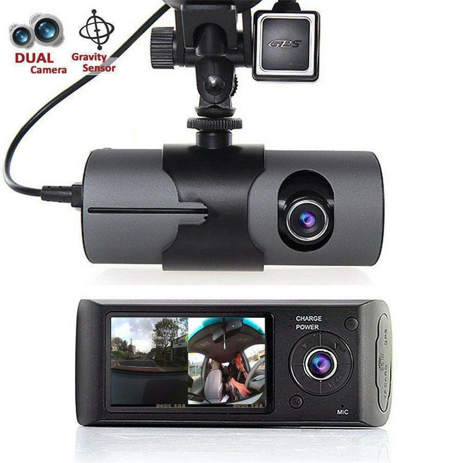 "s-l1600 2.7"" Vehicle Car DVR Camera Video Recorder Dash Cam G-Sensor Dual Len Camera"