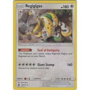 Regigigas 84//111 SM Crimson Invasion Rare Holo Pokemon Card MINT TCG