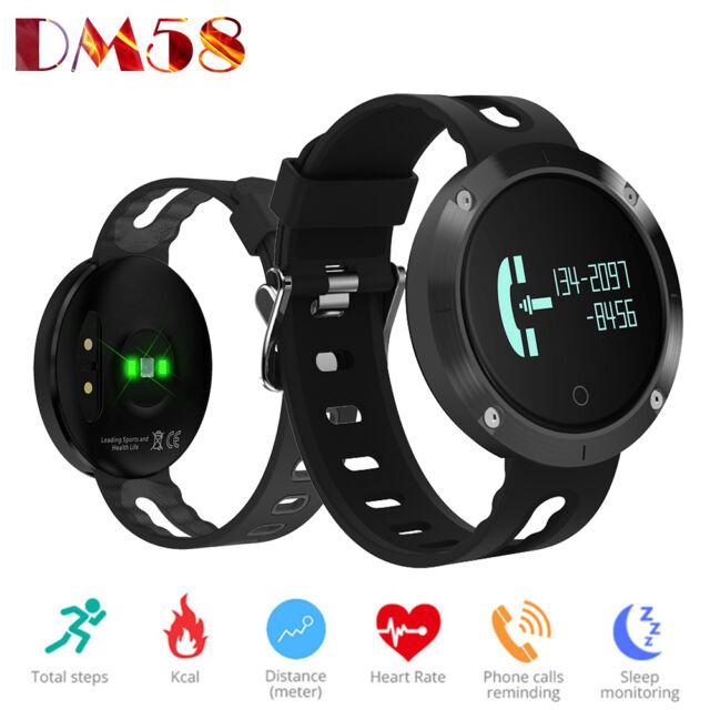 DM58 Smart Bracelet Waterproof Blood Pressure Heart Rate Watch Fitness Tracker