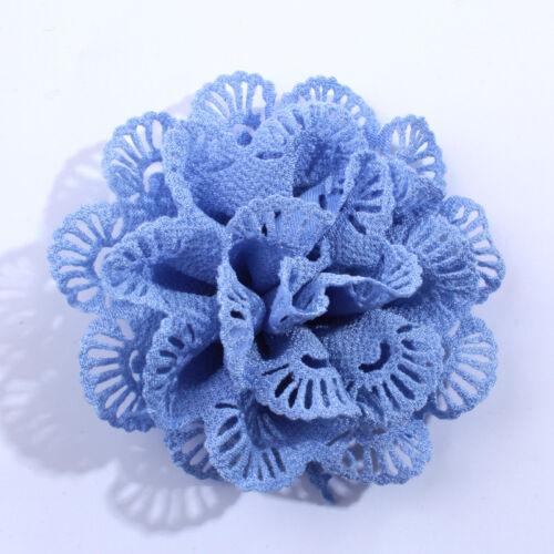 30PCS 10CM Wholesale Supply Chiffon Fabric Ballerina Flowers For Garment