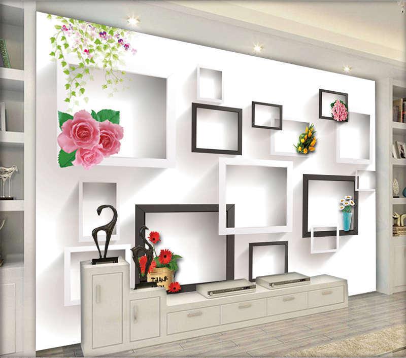 Optimum Lofty Grid 3D Full Wall Mural Photo Wallpaper Printing Home Kids Decor