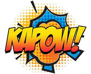 Détails Sur Encadrée Imprimer Kapow Pop Art Comic Book Photo Imprimé Batman Superman Marvel Afficher Le Titre Dorigine