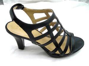 Naturalizer-42-11M-Daphne-black-sandals-womens-ladies-shoes-cage-heels-pumps