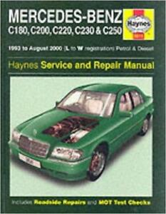 haynes mercedes w202 c class 180 200 220 230 250 owners manual rh ebay co uk mercedes w202 service manual pdf download mercedes w202 service manual free download