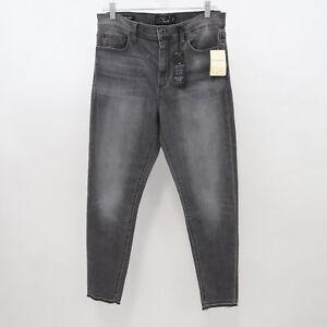 Lucky-Brand-Skinny-Ankle-Jeans-Bridgette-Womens-14-32-NEW-Black-Denim-High-Rise