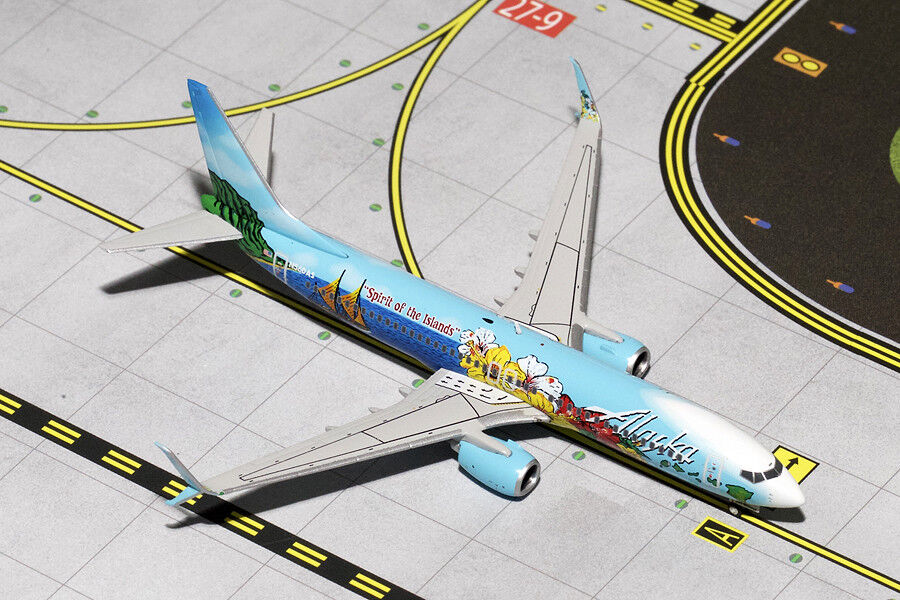 GEMINI JETS ALASKA AIRLINES  737-800 SPIRIT OF THE  ISLANDS  GJASA1358 1:400