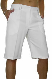 d4cad9b946 New (1492-2) Ladies Smart Casual Washable Tailored Shorts White Size ...