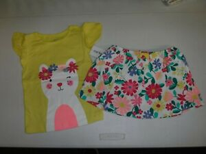 BABY GIRL CARTER/'S SIZE 18 MONTHS YELLOW TANK PINEAPPLE SHORTS SET NEW #14133