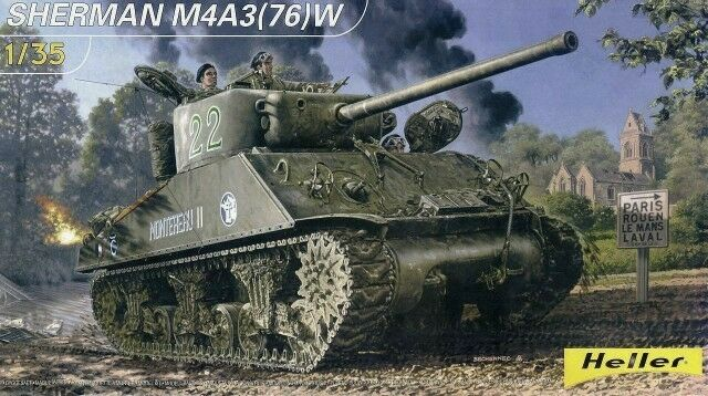Heller 1 WW2 81161 Kit Model Version Army French US Tank