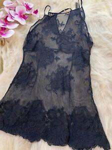 Intimissimi-lace-black-Camisole-Top-sleepwear-nightwear-size-Us38-it5-eu85