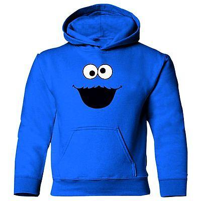 Cookie Monster Sesame Street Blu Per Bambini Unisex Tv Cartoon Felpa.-mostra Il Titolo Originale Ufficiale 2019
