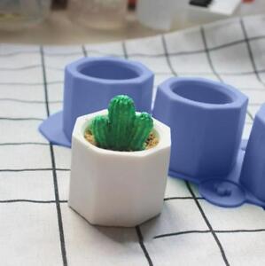 3D-Flower-Pot-Silicone-Molds-DIY-Garden-Planter-Cement-Concrete-Vase-Soap-New