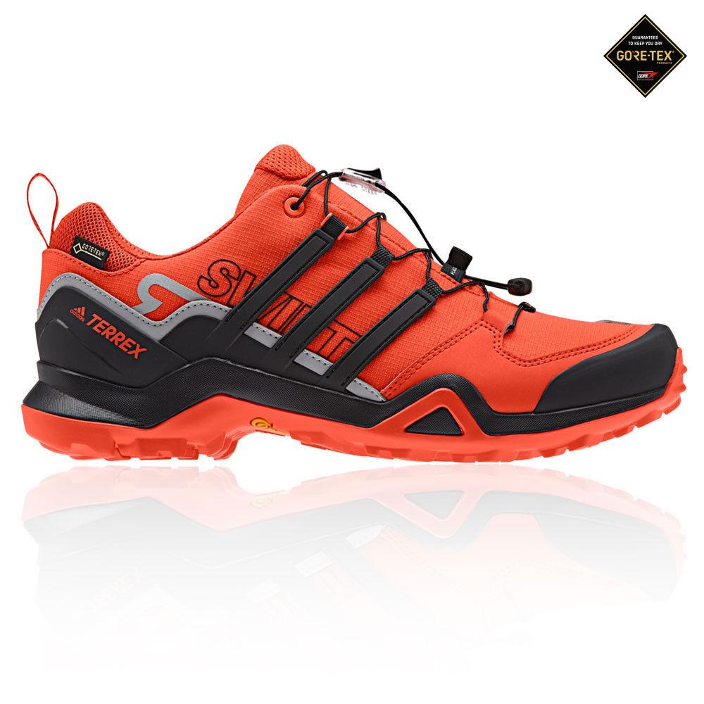 Adidas Mens Terrex Swift R2 GORE-TEX Walking shoes Black orange Sports Outdoors