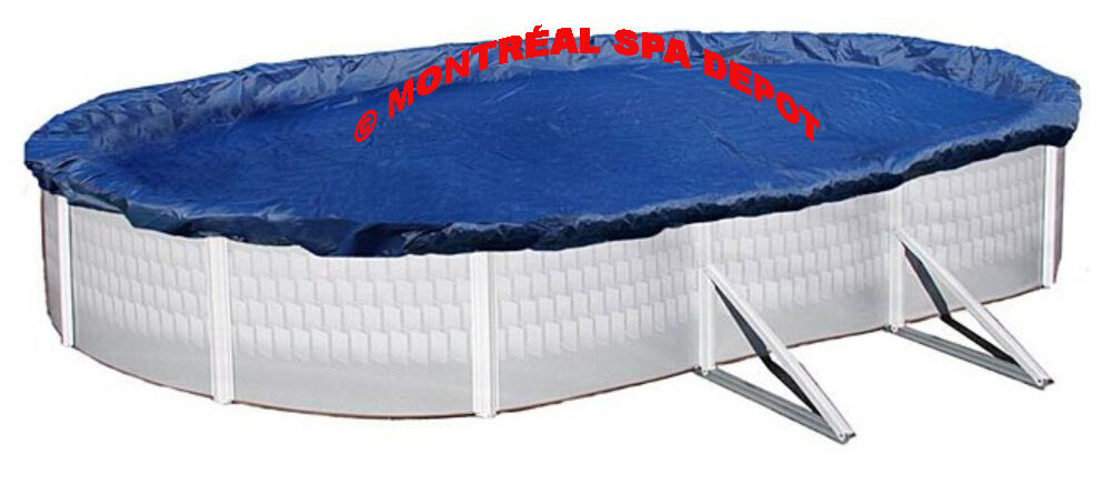 WINTER COVER DELUXE for above ground pool OVAL 15' x 30' +ratchet & cable system