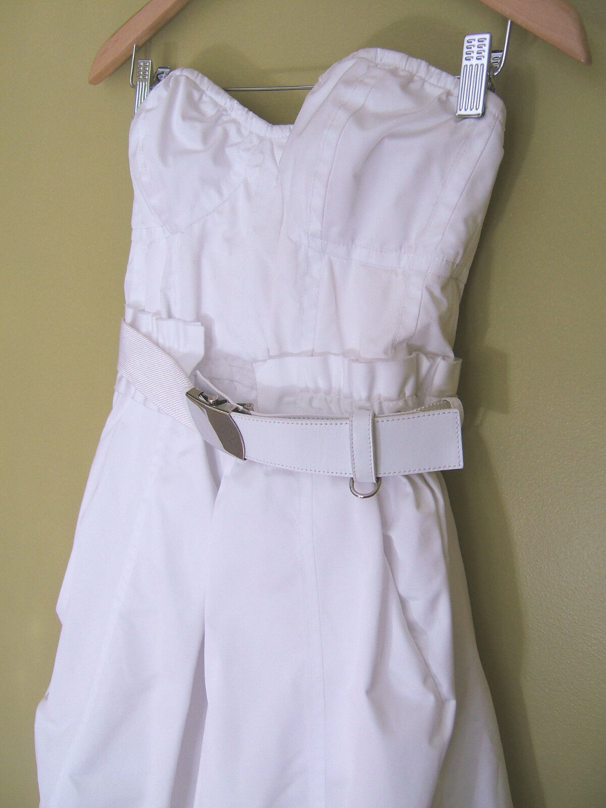 NWT Marc Jacobs Ivory Radzimir Petticoat Strapless Strapless Strapless Belted Bustier Dress 6  2,200 f1292c