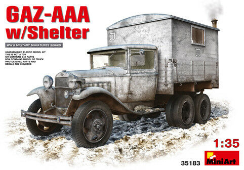 Miniart 1 35 GAZ-AAA With Shelter