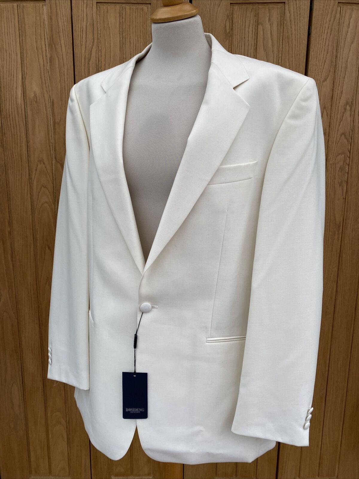 Men's BOSIDENG Brook Ivory Wool White Tuxedo DINNER JACKET Size 42' Chest -NEW