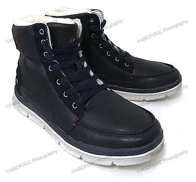 Men's Boots Ankle Fur Lined Laced Up High Top Warm Winter Sneakers Snow Chukka