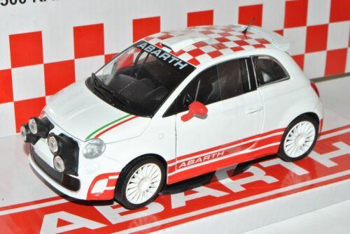 Fiat 500 rally r3t Abarth Weiss bandera 1//24 Mondo motors modelo coche con o...