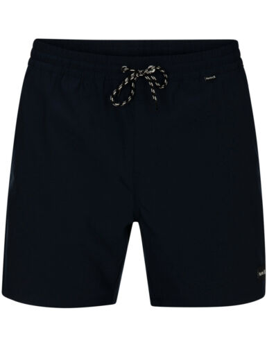 Hurley One /& Only Volley 17 Elasticated Boardshorts in Obsidian
