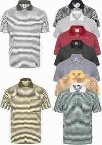 Mens-Polo-Shirt-T-Shirt-Senior-Pique-Tee-New-Lightweight-Summer-Beach-Golf-Large