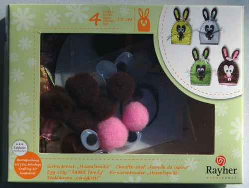 Ostern Bastelpackung Hasen Bastelset für Eierwärmer aus Filz *Hasenfamilie*