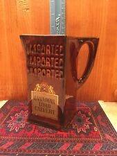 Canadian Lord Calvert Imported Whisky Advertising Pitcher