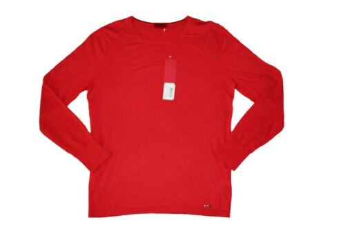 NEW HUGO BOSS MENS RED COTTON SILK CASHMERE BLEND CREW NECK JUMPER CARDIGAN TOP