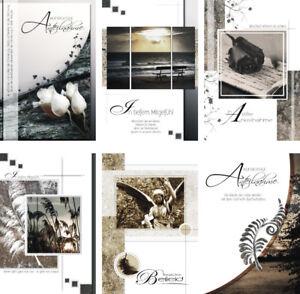 Das Bild Wird Geladen 100 Trauerkarten Mit Umschlag Sprueche  3140 Beileidskarte Trauerkarte