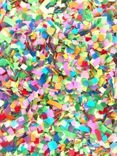 RAINBOW Biodegradable Tissue Paper Throwing Table WEDDING CONFETTI Flutter Fall