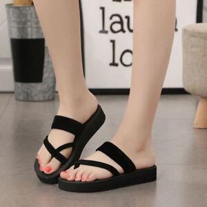 027c65288 Womens Summer Flip Flops Casual Slippers Flat Sandals Beach Open Toe ...
