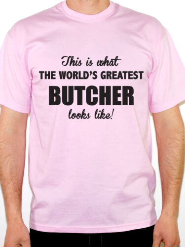 Carnivore Novelty Themed Mens T-Shirt WORLDS GREATEST BUTCHER Fun Meat